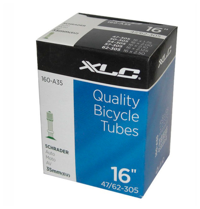 Bicycle tubes 16_1,75/2,125 AV 35 мм